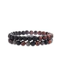 Steve Madden Stone Bead Bracelet Set