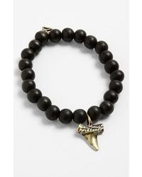 TALON Beaded Charm Bracelet Black