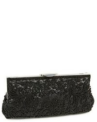 Black Beaded Clutch