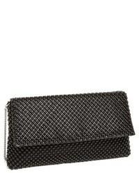Beaded mesh clutch black medium 104049