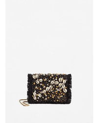 Mango Beaded Cross Body Bag