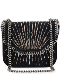 Stella McCartney Beaded Eco Faux Suede Crossbody Bag Black