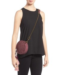 Elle J Gypset Grenada Canteen Faux Suede Crossbody Bag Black