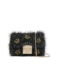 Furla Mini Textured Beaded Metropolis Bag