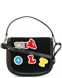 Olympia Le-Tan Beaded Patch Crossbody Bag