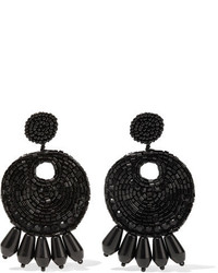 Kenneth Jay Lane Beaded Clip Earrings One Size