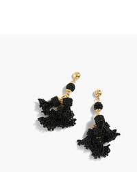 J.Crew Beaded Tassel Chandelier Earrings