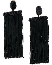 Oscar de la Renta Long Beaded Waterfall Tassel Earrings