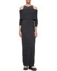 Off the shoulder monili inset maxi dress black medium 843777