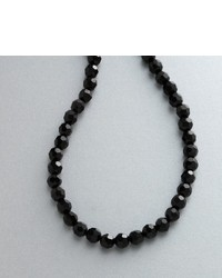 1928 Jet Tone Black Bead Necklace