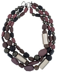 Alexis Bittar Bead Lucite Multi Strand Necklace