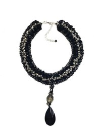 Ananda Black Beaded Necklace