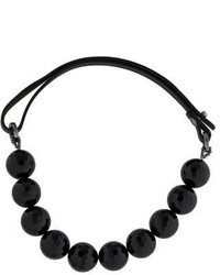 Brunello Cucinelli Agate Bead Strand Collar Necklace