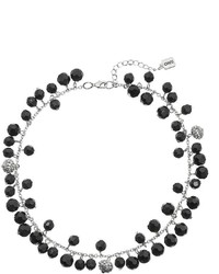 Chaps Black Beaded Necklace