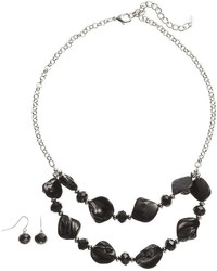 Croft Barrow Bead Swag Necklace Drop Earring Set