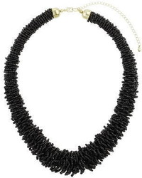 Dorothy Perkins Black Beaded Necklace