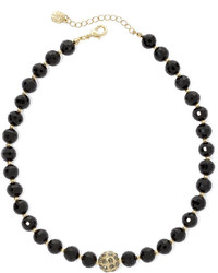 jcpenney Monet Jewelry Monet Gold Tone Black Bead Collar Necklace