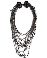 Chanel Multi Strand Cc Bead Necklace