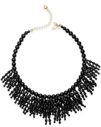 Kate Spade New York 12k Gold Plated Beaded Fringe Statet Necklace