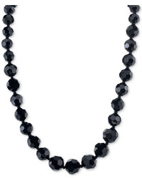 2028 Night Shade Black Graduated Bead Long Necklace A Macys Style