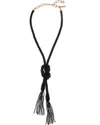 Oscar de la Renta Beaded Tassel Necklace