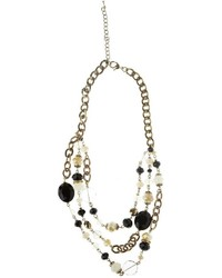 Rings Things Black Beaded Necklace