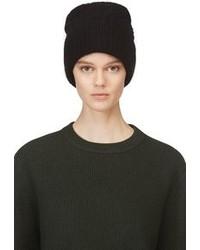 Acne Studios Black Wool Daphnee Beanie Hat