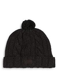 Original Penguin Albert Pom Pom Cable Knit Beanie