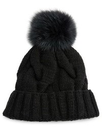 Loro Piana Baby Cashmere Courchevel Beanie Hat Black