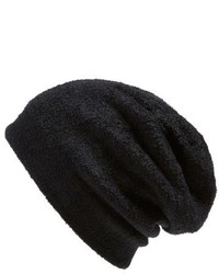 Barefoot Dreams Knit Slouch Beanie Black