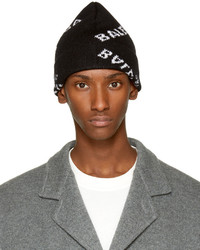Balenciaga Black All Over Logo Beanie