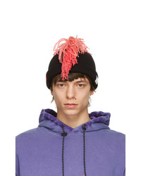 99% Is Black And Pink Fringe Beanie
