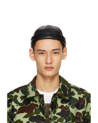 Junya Watanabe Black Beton Cire Edition Rolled Brim Cap