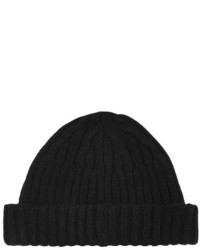 Topman Black Cable Mini Beanie