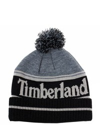 Timberland Black Color Blocked Logo Watch Beanie Hat