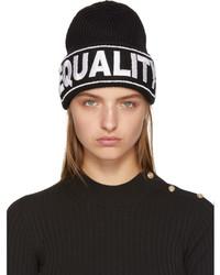 Versace Black Equality Beanie