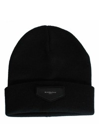 Givenchy Black Logo Patch Beanie