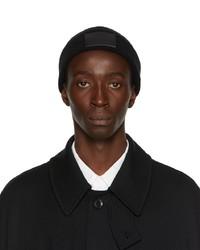 Yohji Yamamoto Black New Era Edition Cuffed Logo Patch Beanie