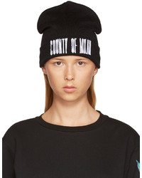 Marcelo Burlon County of Milan Black Sajama Beanie
