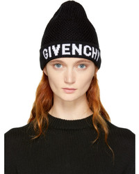 Givenchy Black White Logo Beanie