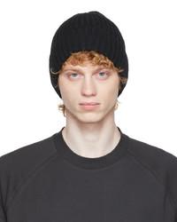 Z Zegna Black Wool Beanie