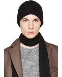 Lanvin Black Wool Beanie
