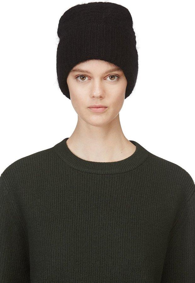 ... Acne Studios Black Wool Daphnee Beanie Hat ... ad4465f50