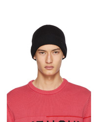 Givenchy Black Wool Embroidered Beanie