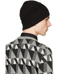 ... Saint Laurent Black Wool Knit Beanie 944931d6d67