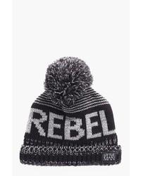 Boohoo Boys Rebel Slogan Beanie