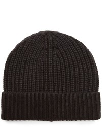 Iris von Arnim Carlos Ribbed Knit Cashmere Beanie Hat