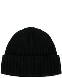 N.Peal Chunky Ribbed Knit Beanie Hat