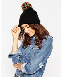 Asos Collection Multi Knit Pom Beanie