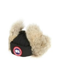 Canada Goose Down Fill Aviator Hat With Genuine Coyote